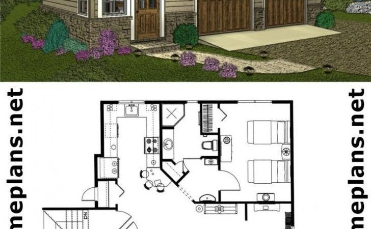Home Plan Garage Floor Plans Living Quarters