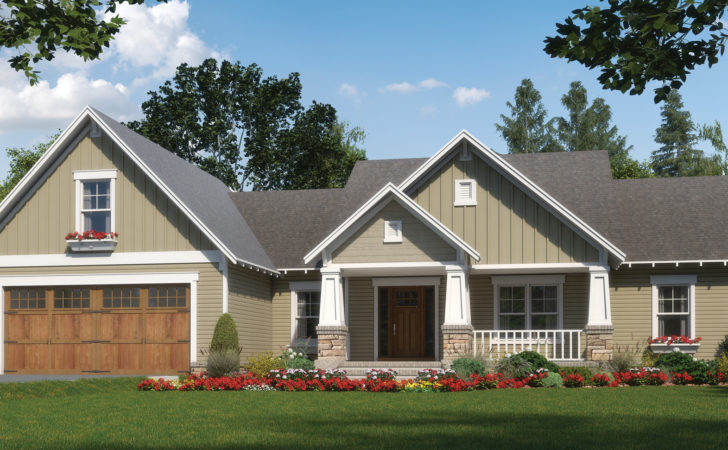 Home Plan One Level Craftsman Character