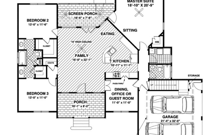 Home Plans Attached Guest House Design Style