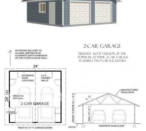 Home Plans Concrete Garage