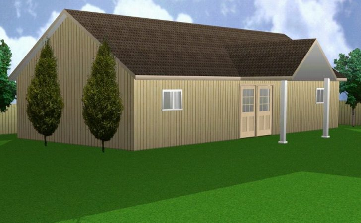 Horse Barn Stall Hip Roof Building Plan