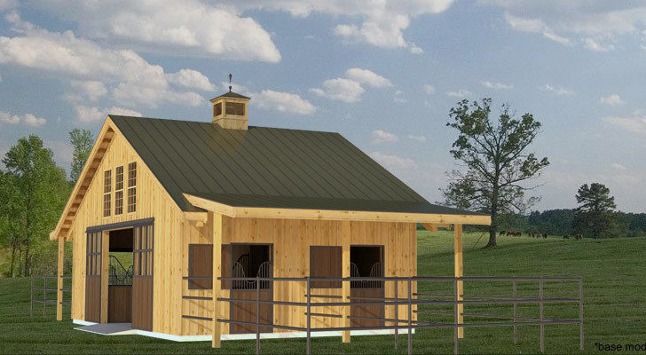 Horse Plan Small Pole Barn Submited