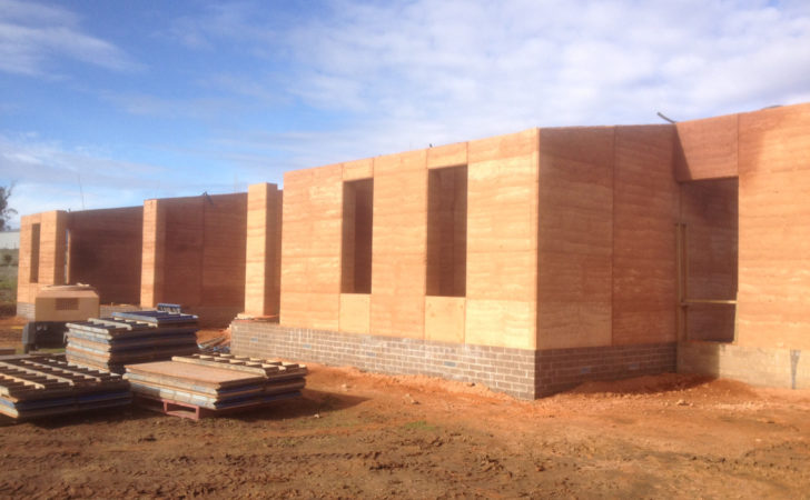 House Construction Rammed Earth