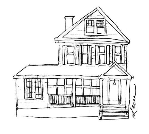 House Illustrations Illustrator Notes Sketching Out