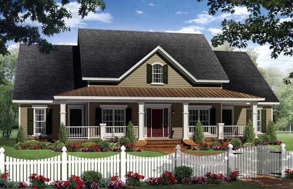 House Plan Country Farmhouse Traditional