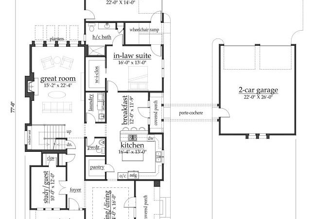 House Plan Fitzgerald Handicap Accessible
