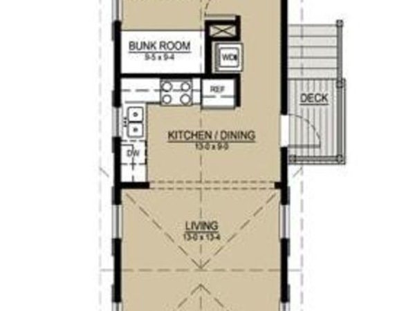 House Plan Long Narrow Lot Architect Bruce Tolar
