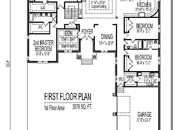 House Plan Master Suites Single Story