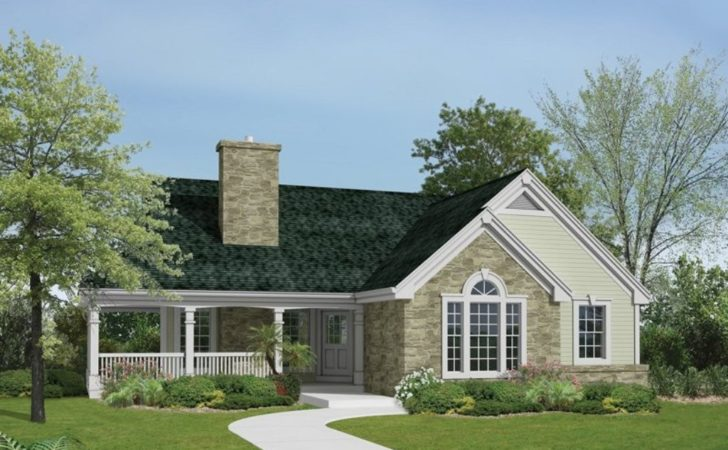 House Plan One Story Houses Wrap Around Porch Best Plans