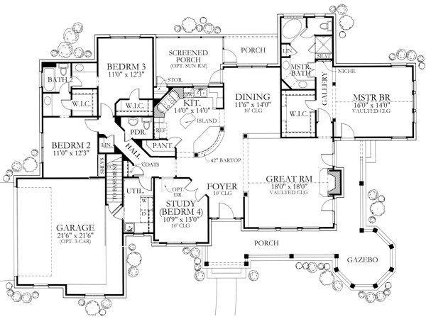 House Plan Texas Inspired Country
