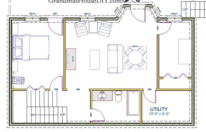 House Plan Two Story Walk Out Basement