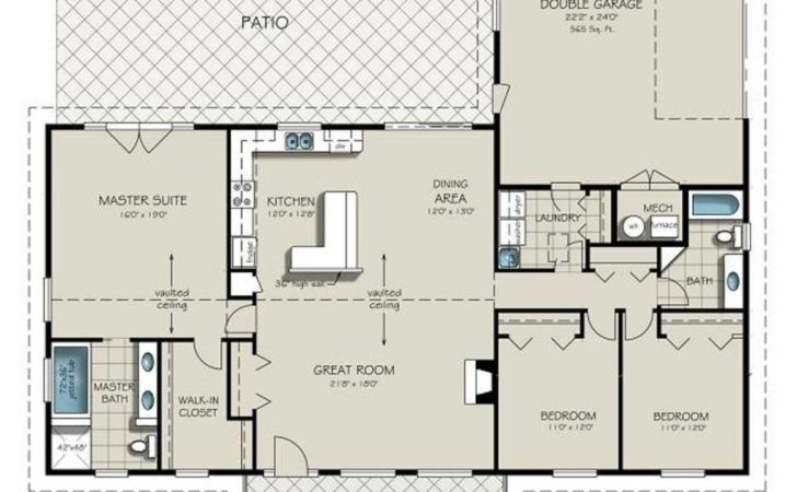 House Plans Also Bedroom Bath Ranch Floor