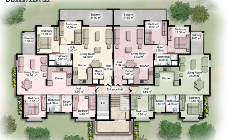 House Plans Design Architectural Apartment