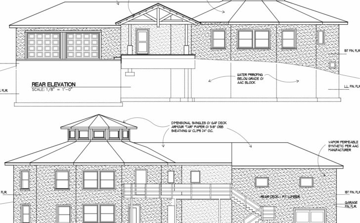House Plans Design Architectural Elevations
