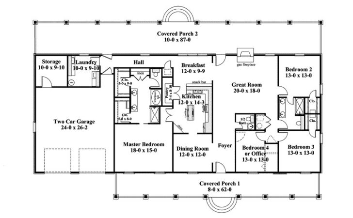 House Plans Design Single Story Ranch