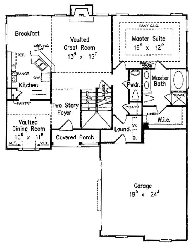 House Plans First Floor Master