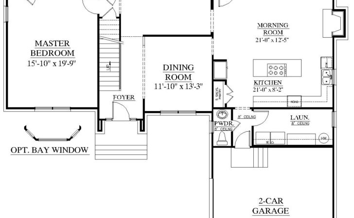 House Plans Floor Master Bedroom Home Design Style