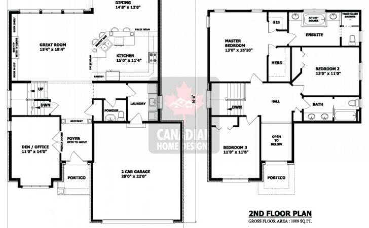 House Plans Garage Two Storey Bedroom