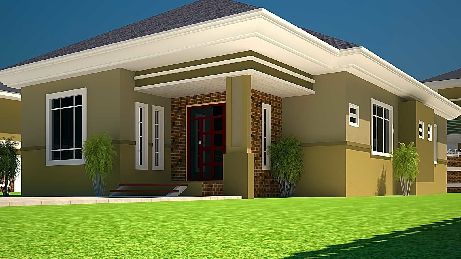 House Plans Ghana Bedroom Plan Half Plot