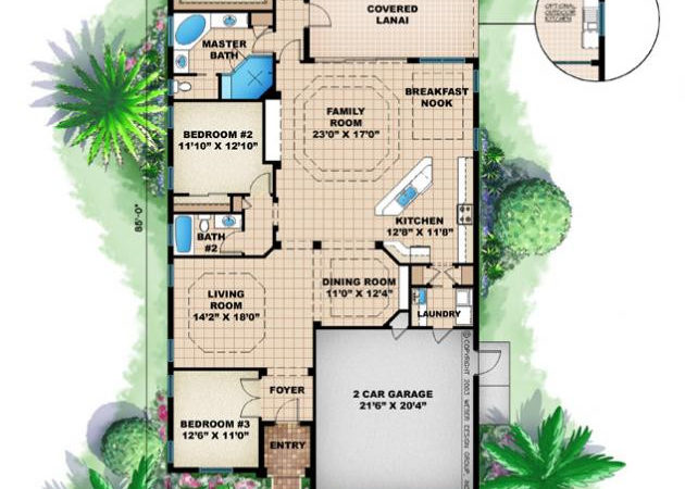 House Plans Home Narrow Beach