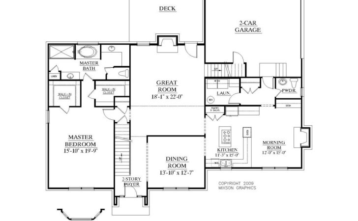 House Plans Master Floor Houses Bedroom