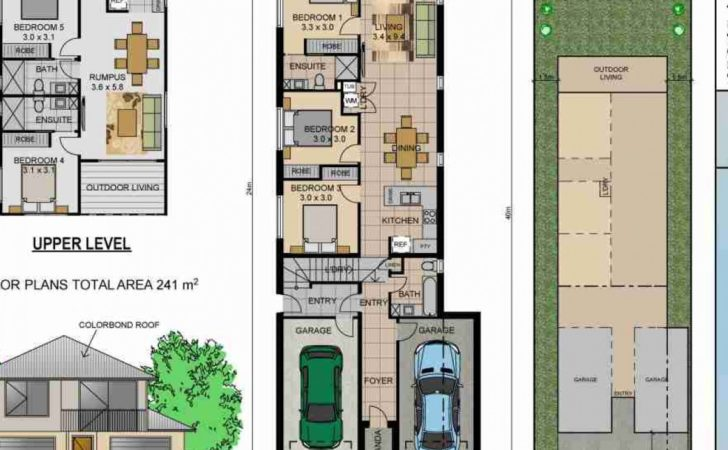 House Plans Narrow Lots Best Home Decorating Ideas