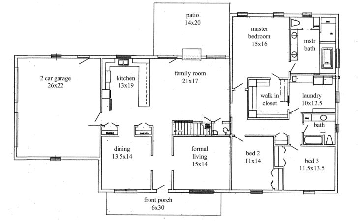 House Plans New Construction Home Floor Plan