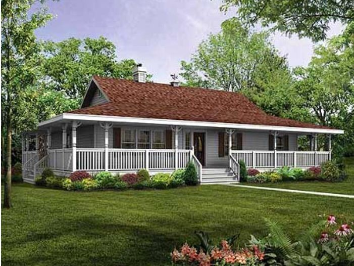 House Plans Porches All Way Around Cottage