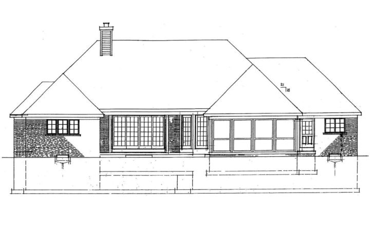House Plans Rear Lot Home Design Style