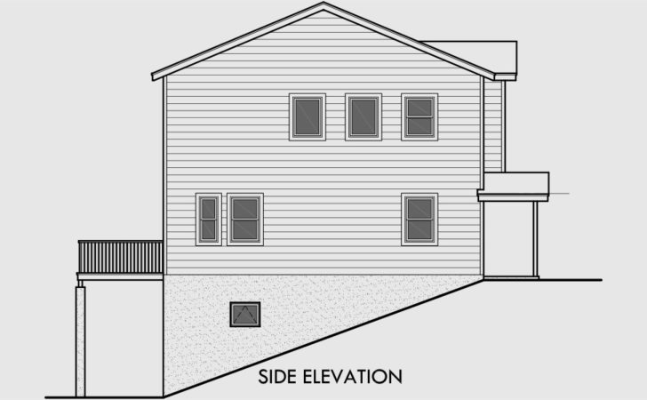 House Plans Sloped Lots Rear