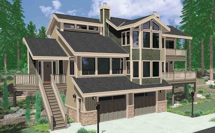 House Plans Sloping Lot Multi Level