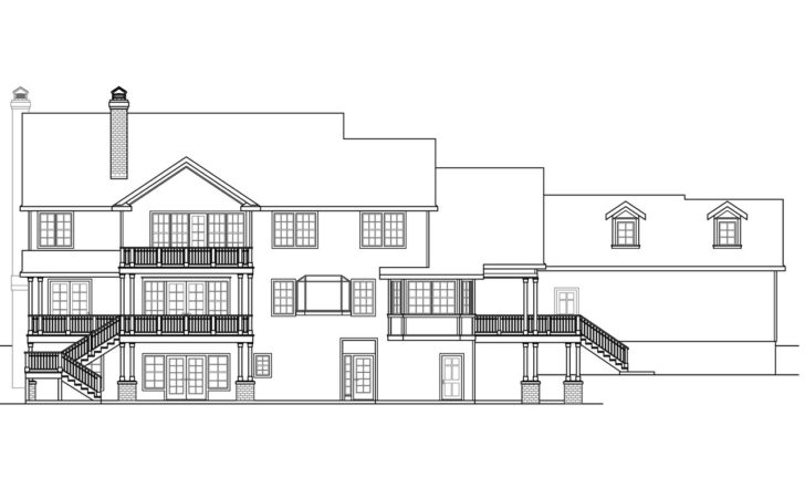 House Plans Sloping Lots Rear Style