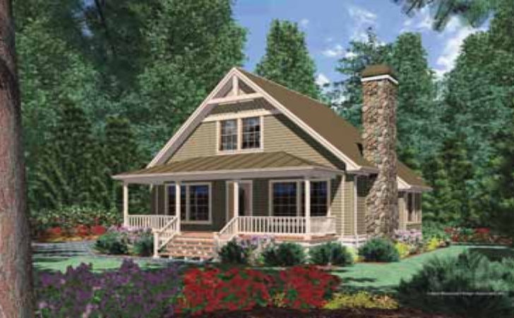House Plans Small Cabin Porches Two