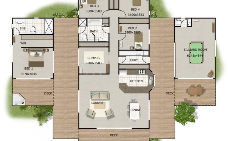 House Plans Wow Factor Bed Sloping