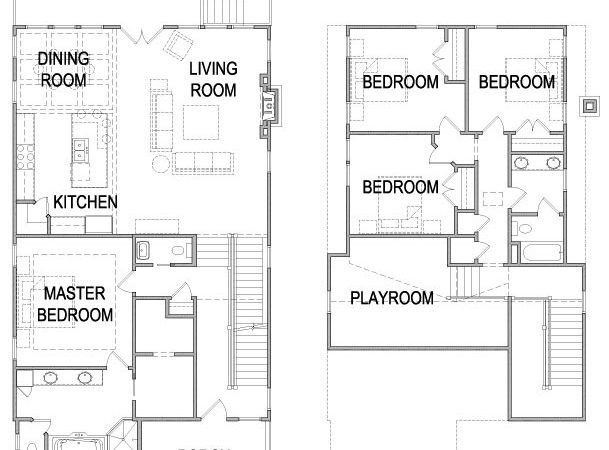 House Two Plans Large Families