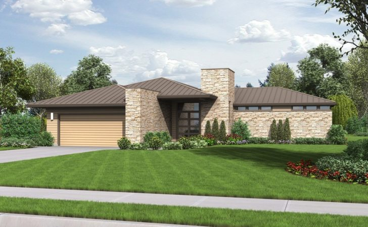 Houston Modern Ranch House Plan Outdoor Connection