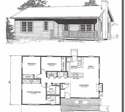 Idaho Cedar Cabins Floor Plans