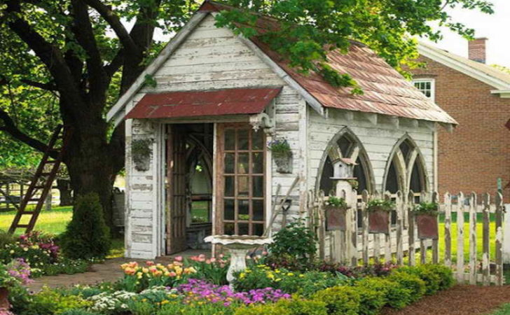 Ideas Cool Garden Shed Beautiful