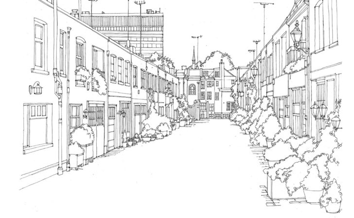 Illustrated Maps Architectural Drawings Kay
