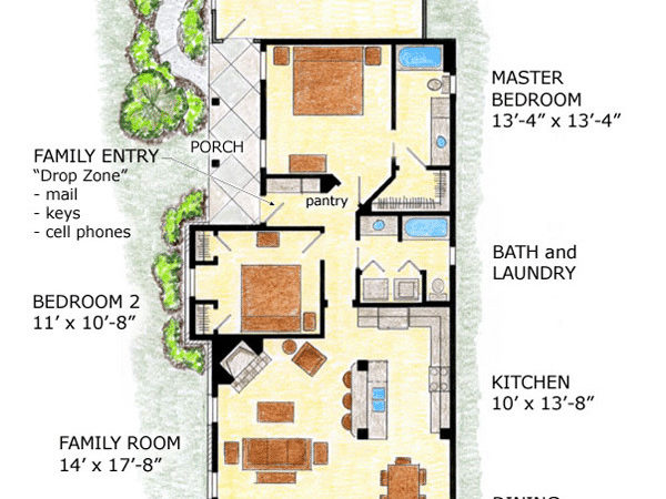 Impressive Home Plans Narrow Lots Lot Plan
