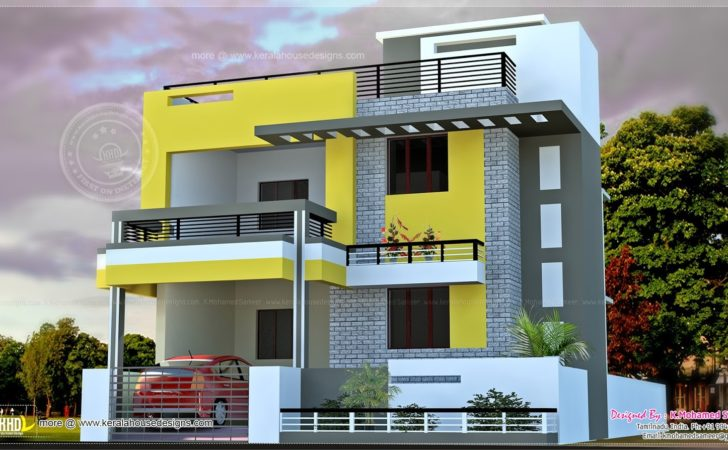 India House Plan Modern Style Kerala Home Design