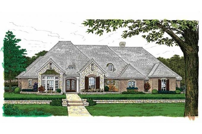 Inspiring One Story Country House Plans French