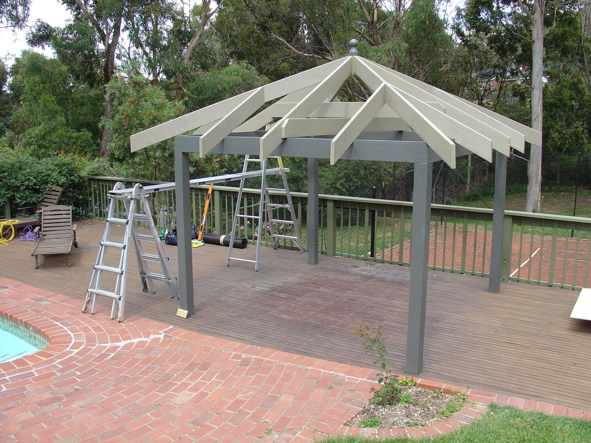 Install Gazebo Roof Garden Outdoor