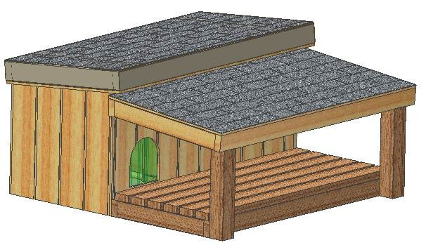 Insulated Dog House Plans Total Large