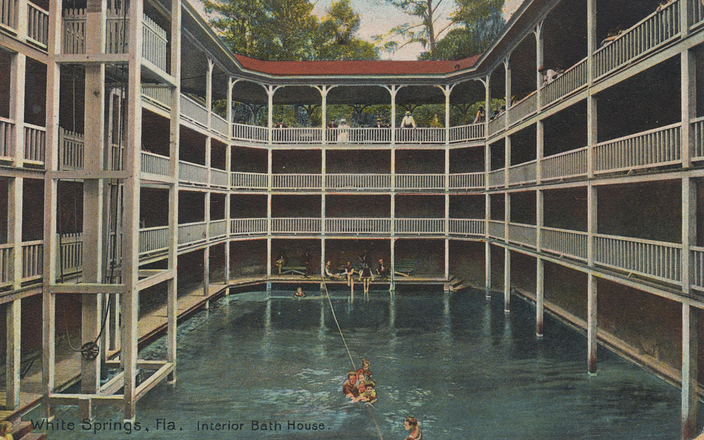 Interior Bath House White Springs Florida Message May