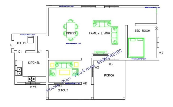 Kerala House Plans Below Square Feet