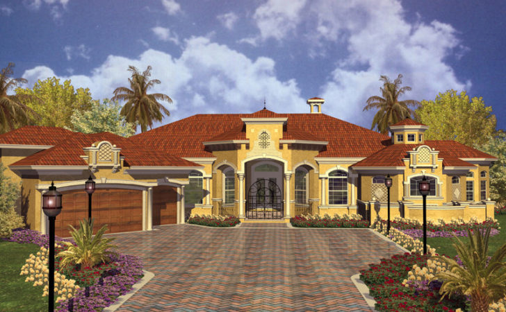 Key West Spanish Style Home Plan House Plans