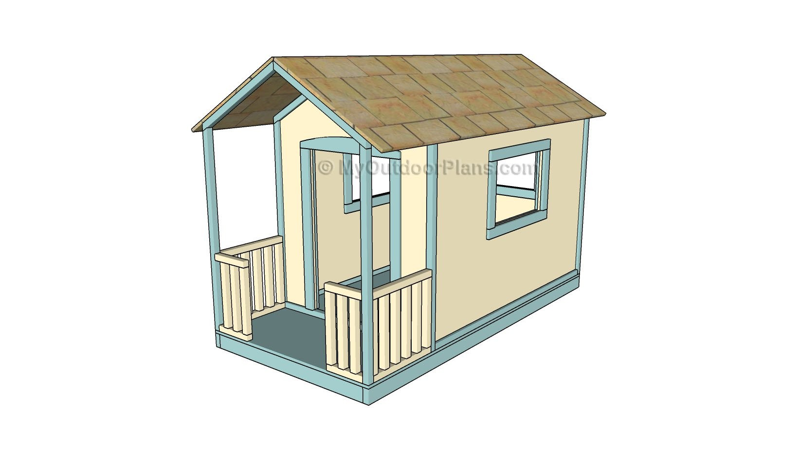 Kids Playhouse Plans Myoutdoorplans Woodworking