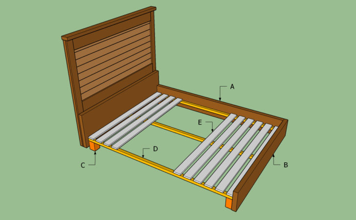King Bed Frame Plans Diy Blueprints