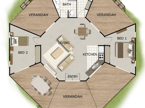 Kit Home House Plans Round